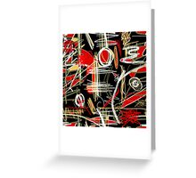 Artistic abstract pattern Greeting Card