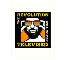 REVOLUTION WILL NOT BE TELEVISED GIL SCOTT HERON (SUMMER) Art Print