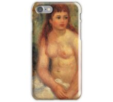 Renoir Auguste - Seated Young Woman Nude 1910 iPhone Case/Skin