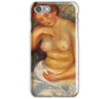 Renoir Auguste - Seated Nude With A Bouquet 1915 iPhone Case/Skin