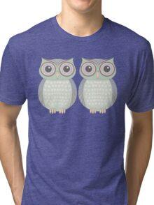 Owl Twins Tri-blend T-Shirt