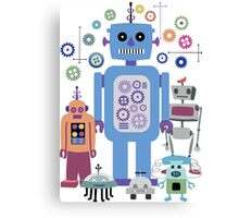 Retro Robots for Sci-fi Nerds and Geeks Canvas Print