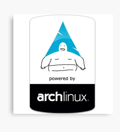 Powered By Arch Linux Canvas Print