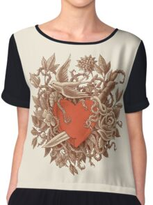 Heart of Thorns  Chiffon Top