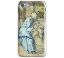 Vincent Van Gogh -  Sheep-Shearer (After Millet) 1889 iPhone Case/Skin