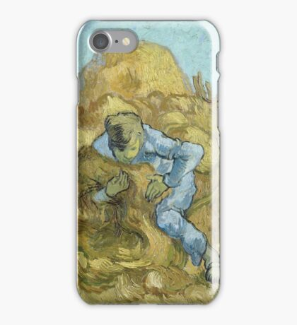 Vincent Van Gogh -  Sheaf-Binder (After Millet) 1889 iPhone Case/Skin