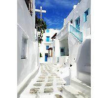 road in Mykonos Photographic Print