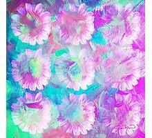 Pink Daisy Splash by Jan Marvin Photographic Print