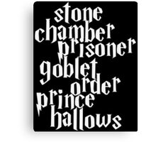 Stone Chamber Prisoner Goblet Order Prince Hallows #White Version Canvas Print