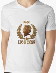 Caesar Insignia Mens V-Neck T-Shirt