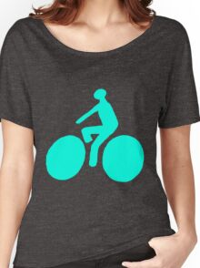 Turquoise bike Women's Relaxed Fit T-Shirt