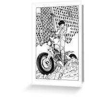 Akira Kaneda Biker Greeting Card