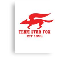 Star Fox Emblem Red Canvas Print