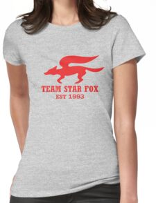 Star Fox Emblem Red Womens Fitted T-Shirt