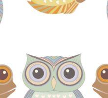 Owls Three and Fish Three Sticker
