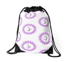 Om or Aum Symbol of wisdom and meditation Drawstring Bag