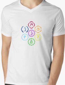 The 7 Main Chakras in a Circle Mens V-Neck T-Shirt