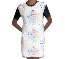 The 7 Main Chakras in a Circle Graphic T-Shirt Dress