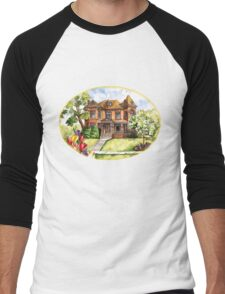 Victorian Mansion in the Spring Men's Baseball ¾ T-Shirt