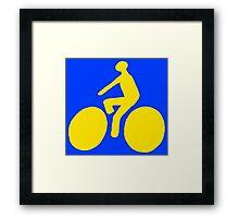 Yellow bike Framed Print