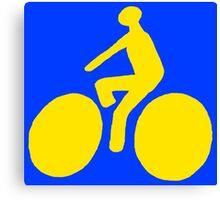 Yellow bike Canvas Print