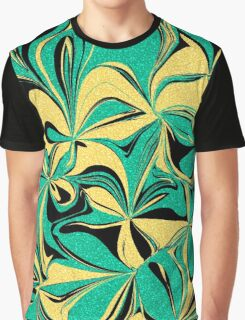 Abstract Flowers Graphic T-Shirt