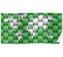 3d World map composition 1 Poster