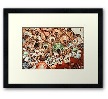 Beautiful Colored Arabian Lamps In Oriental Grand Bazaar Of Istanbul Framed Print