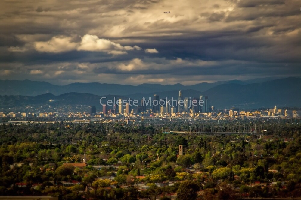 Downtown Los Angeles from Signal Hill by Celeste Mookherjee