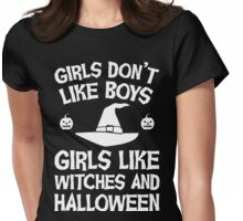 Girls like Halloween Womens Fitted T-Shirt