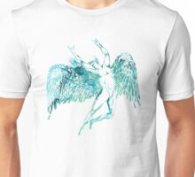 ICARUS THROWS THE HORNS - blue watercolor NEW DESIGN Unisex T-Shirt
