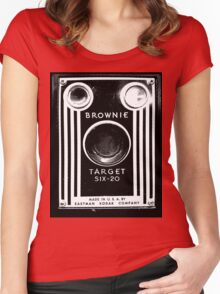 Vintage Kodak Brownie Camera Women's Fitted Scoop T-Shirt
