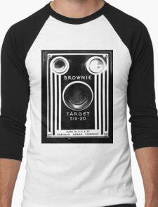 Vintage Kodak Brownie Camera Men's Baseball ¾ T-Shirt