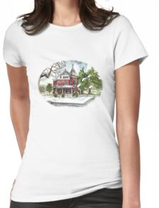 Snowfall Womens Fitted T-Shirt