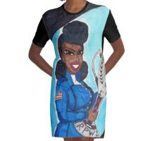 Add another one to the Stats Graphic T-Shirt Dress