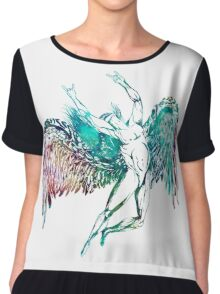 ICARUS THROWS THE HORNS - WATERCOLOR Chiffon Top