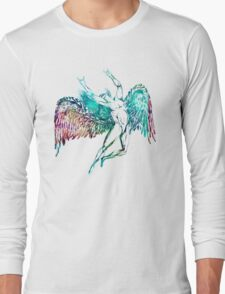 ICARUS THROWS THE HORNS - WATERCOLOR Long Sleeve T-Shirt