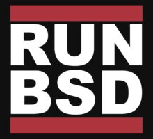 RUN BSD - Parody Design for Unix Hackers / Sysadmins Kids Tee
