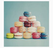 French,macarons,turquoise, background,cookies,elegant,chic,girly,food hipster Kids Tee