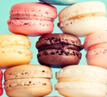 French,macarons,turquoise, background,cookies,elegant,chic,girly,food hipster Sticker