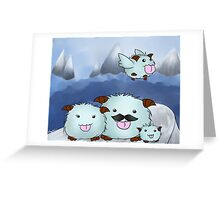 League of Legends - Poro Family Greeting Card