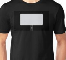 White Sign Black Unisex T-Shirt