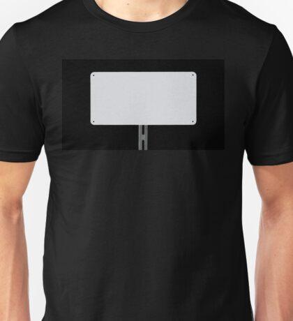 White Sign Black Unisex T-Shirt