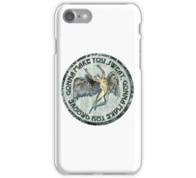 ICARUS THROWS THE HORNS - faded grunge black dog iPhone Case/Skin