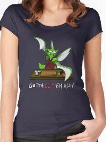 Gotta cut'em all! Women's Fitted Scoop T-Shirt