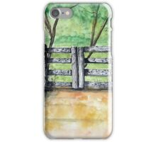 Dry Stack Old Stone Wall Ink and Watercolor Painting iPhone Case/Skin