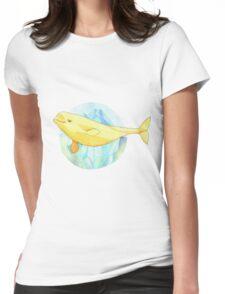 Beautiful Beluga Womens Fitted T-Shirt
