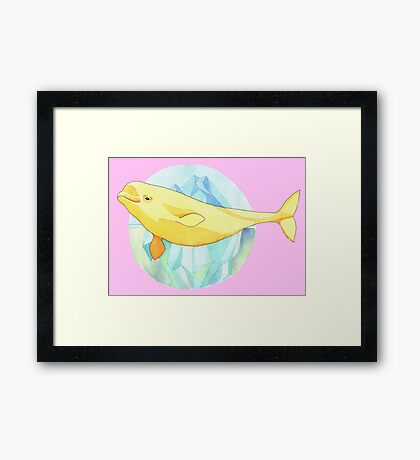 Beautiful Beluga Framed Print