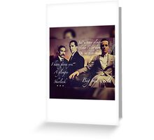 Sherlock, John, and Moriarty  Greeting Card