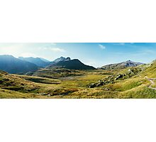 Alpine Greina High Plain on Sunny Summer Day (Grisons, Switzerland) Photographic Print